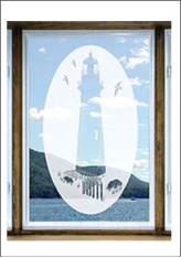 Lighthouse Window Decal