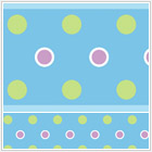 Blue Polka Dot Peel & Stick Wall Border