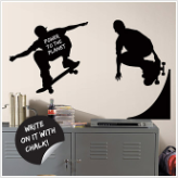 Chalkboard Skaters Wall Decals