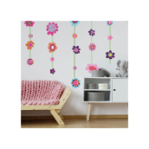 Flower Stripe Large Wall Decals