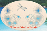 Morning Glory Window Decal -Horizontal