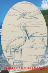 Pelican Static Cling Window Decal