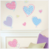 Hearts Removable Wall Stickers