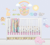 Noah's Pastel Pairs Giant Peel and Stick Wall Decals