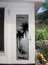 Palm Trees Sidelight Window Film