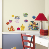 Iconic Pokemon Peel and Stick Wall Decals