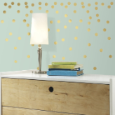 Gold Confetti Peel and Stick Wall Decals