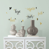 Inspirational Words and Birds Wall Decals