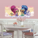 Shimmer and Shine Giant Graphic Wall Decal w/ Glitter