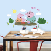 Peppa Pig and Family Muddy Puddles Wall Decals