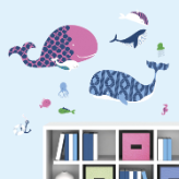 Sea Whales Giant Wall Decals