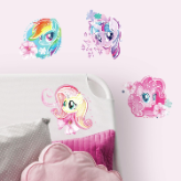 My Little Pony the Movie Watercolor Peel and Stick Wall Decals