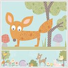 Woodland Animals Peel & Stick Wall Border
