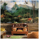 Dinosaurs XL Prepasted Wallpaper Mural