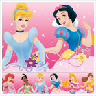 Disney Princess Pink Dream From the Heart Peel & Stick Wall Border