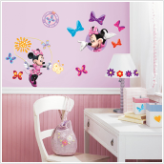 Minnie Mouse Bow-tique Wall Decals