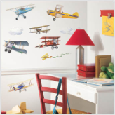 Vintage Planes Wall Decals