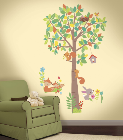 Woodland Creatures Giant Wall Decal Set