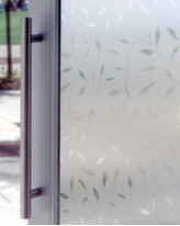 "Etched Leaf Decorative Window Film 24"" x 36"""