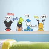Mickey & Friends Wall Decals w/ Dry Erase Thought Bubbles