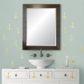 Gold Anchors Peel and Stick Wall Decals