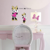 Minnie Mouse Peel and Stick Decals with Glitter