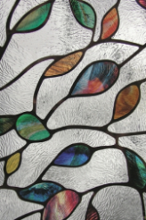 "New Leaf Stained Glass Window Film 24"" x 36"""