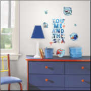 Finding Dory You Me and the Sea Wall Decals