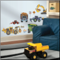 Construction Vehicles Wall Decals