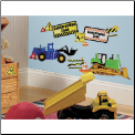 Construction Zone Wall Decals