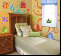 Monster Splat Peel and Stick Wall Decals