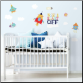 Shoot to the Moon Wall Decals