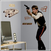 Star Wars Han Solo Giant Wall Decal