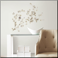 Silver Dollar Branch Wall Decals
