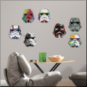 Star Wars Artistic Stormtrooper Heads Wall Decals