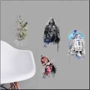 Star Wars Iconic Watercolor Wall Decals
