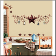 Country Stars and Berries Wall Stickers