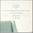 Dance in the Rain Wall Decals