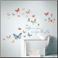 Lisa Audit Watercolor Butterfly Quote Wall Decals