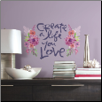 Kathy Davis Create a Life You Love Quote Giant Decals