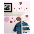 Just Dots Wall Stickers - Pink and Brown