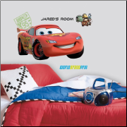 Lightning McQueen - Cars 2 Movie - Giant Wall Decal with Alphabet