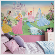 Disney Dancing Princess XL Prepasted Wallpaper Mural