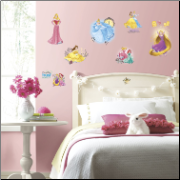 Disney Princess Friendship Adventures Glittery Wall Decal Set