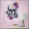 Bright Floral Skull Giant Wall Decal
