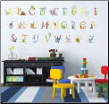 Animal Alphabet Giant Peel and Stick Wall Decals