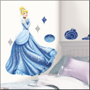 Cinderella Glamour Giant Wall Decal