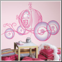 Disney Princess Carriage Giant Wall Decal