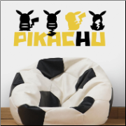 Pikachu Silhouettes Peel and Stick Wall Decals