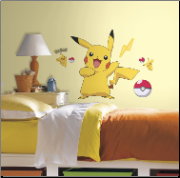 Pikachu Giant Peel and Stick Wall Decals
